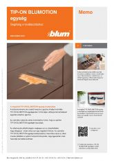 Blum TIP-ON Blumotion egység